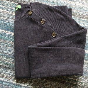 RALPH LAUREN Navy Shoulder Button Sweater- Sz: XL